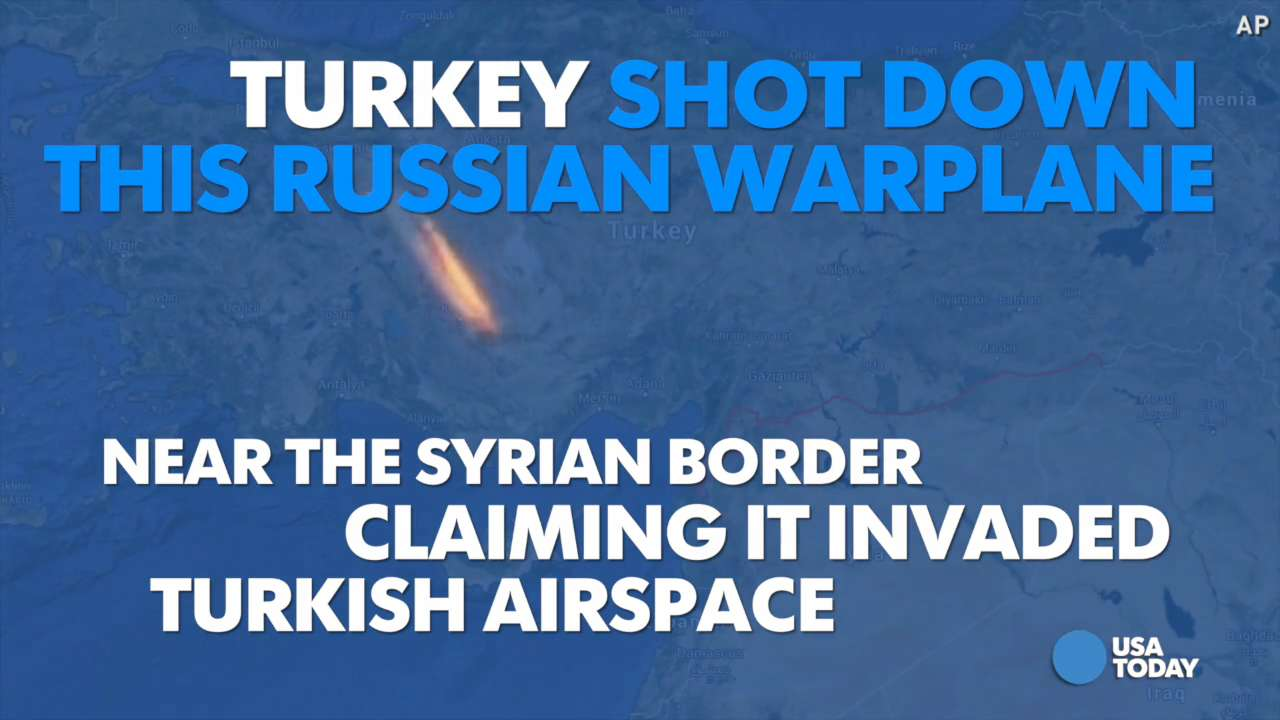 Turkey shoots down Russian warplane