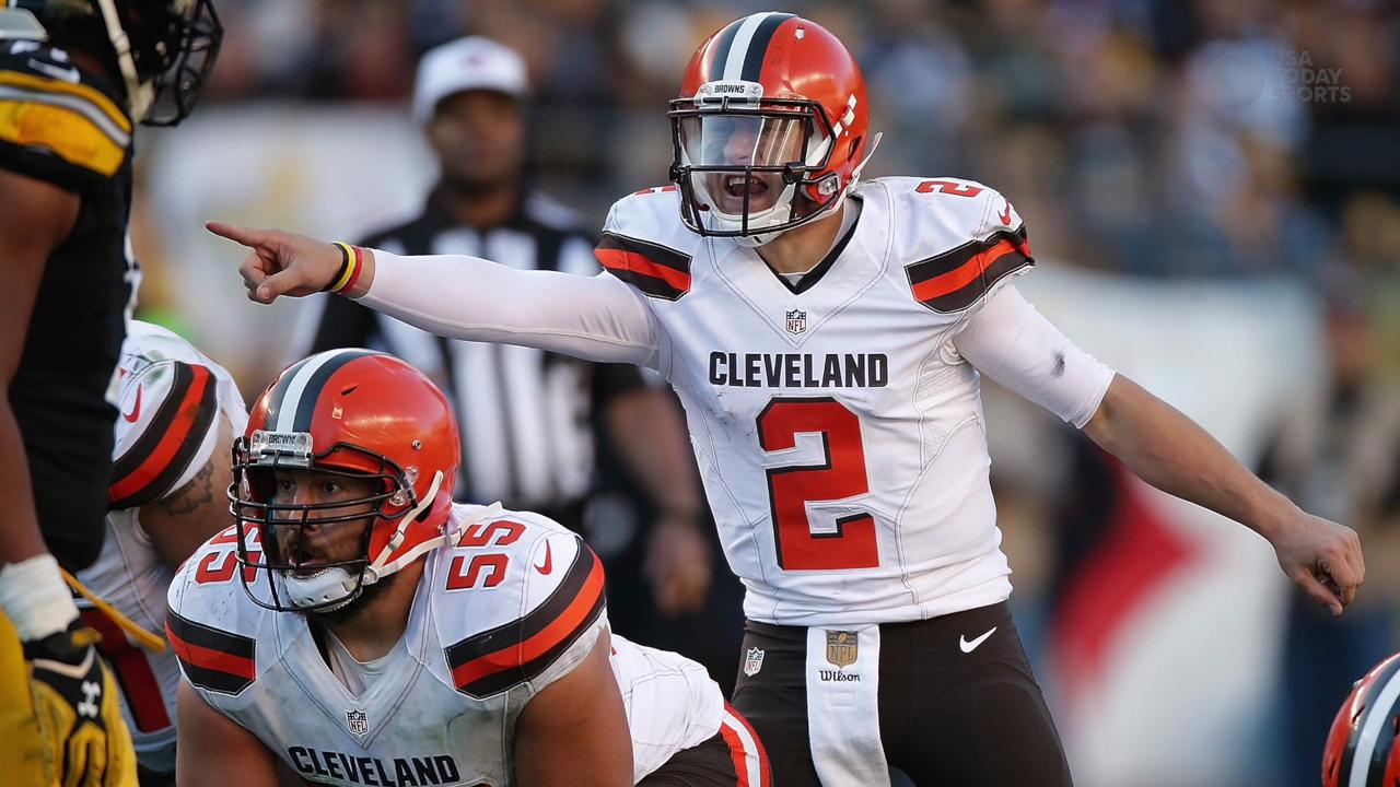 Johnny Manziel is back on the bench