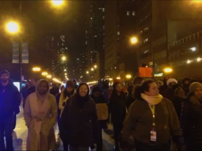 Raw: Protests in Chicago Streets