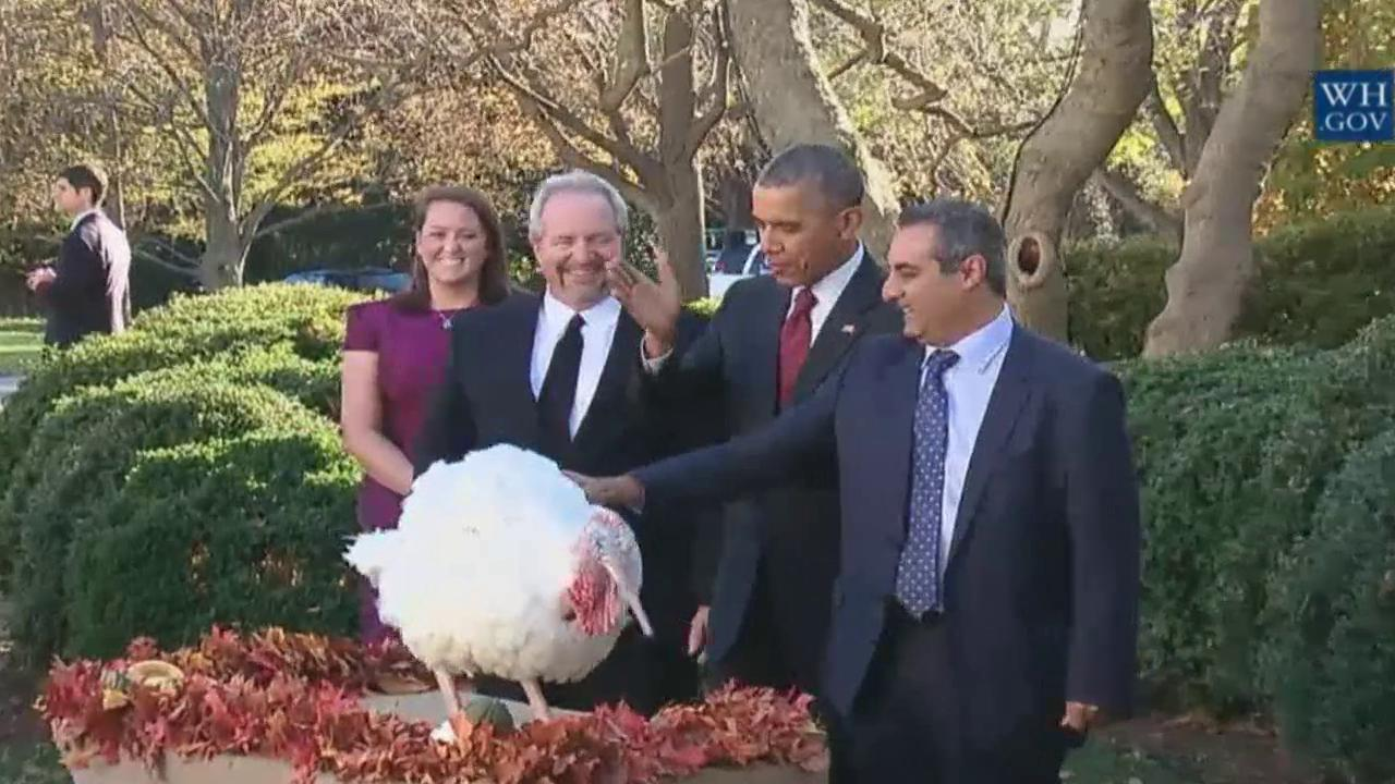 Obama pardons turkey: Time flies, even if turkeys don't