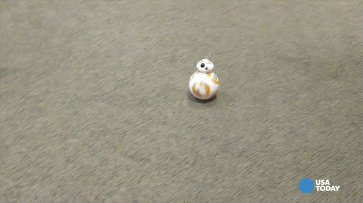 Racing around with a Star Wars BB-8 droid