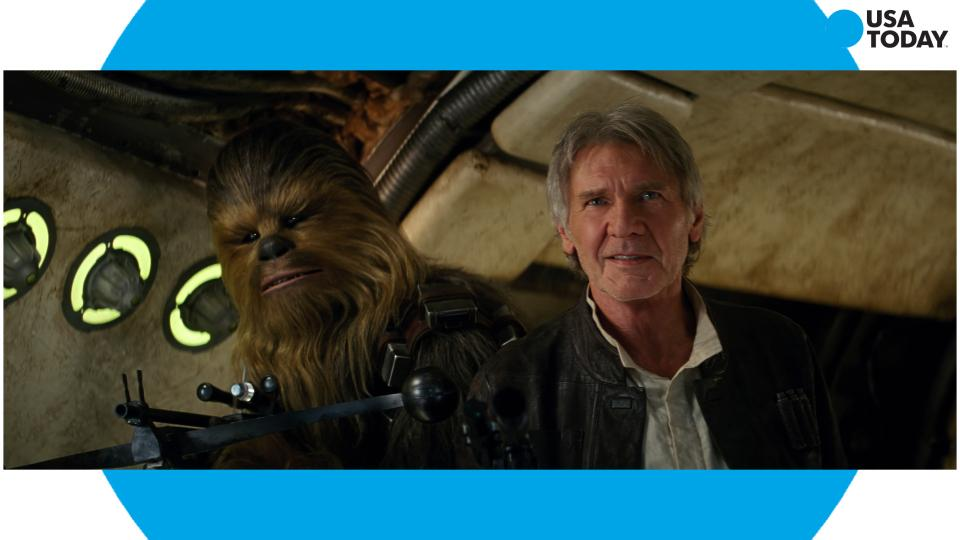 Harrison Ford bonds with Chewbacca in the Force Awakens