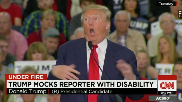 Donald trump mocks reporter with a disability