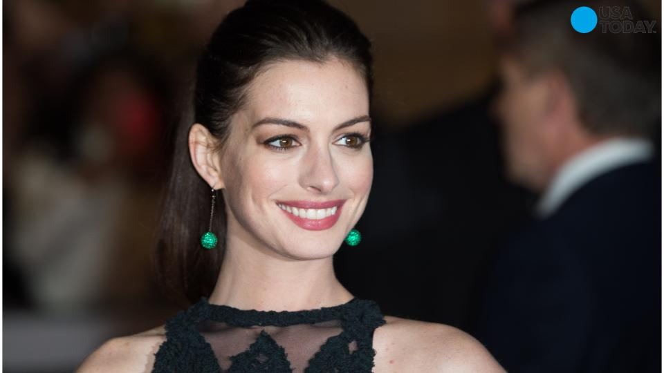 Anne Hathaway Showing Baby Bump