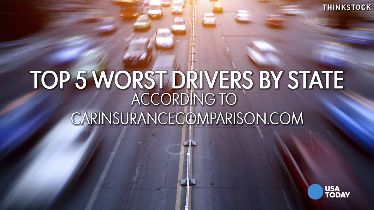 These 5 states have the worst drivers