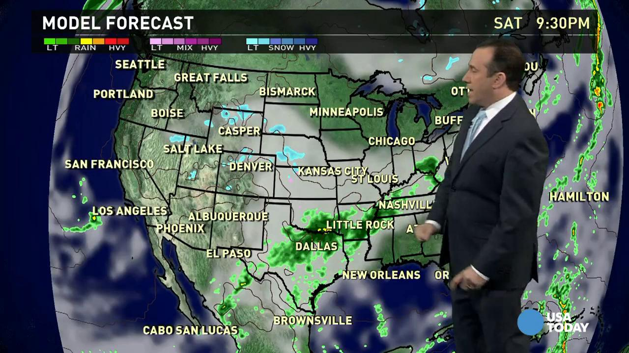 Saturday's forecast: Ice storms wind down in the South