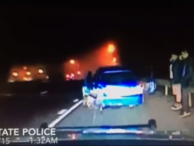 Brush with death captured on dash-cam video