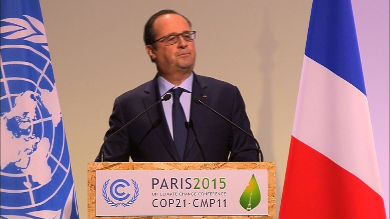 Future of planet at stake, says Hollande at climate summit