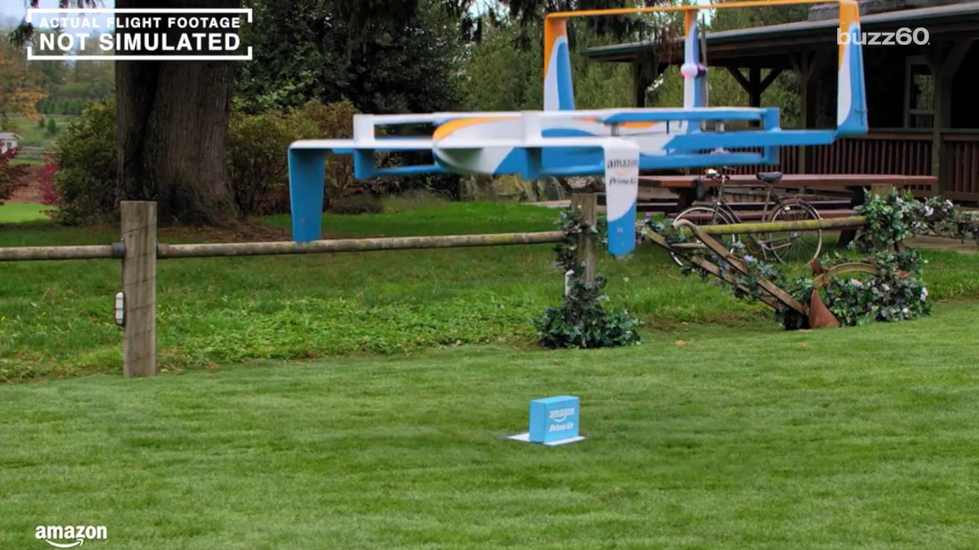 Amazon releases promo for its drone delivery service