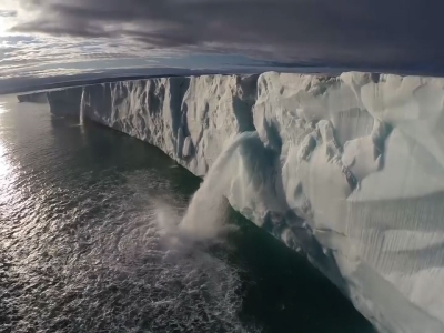 Drone video captures melting glaciers