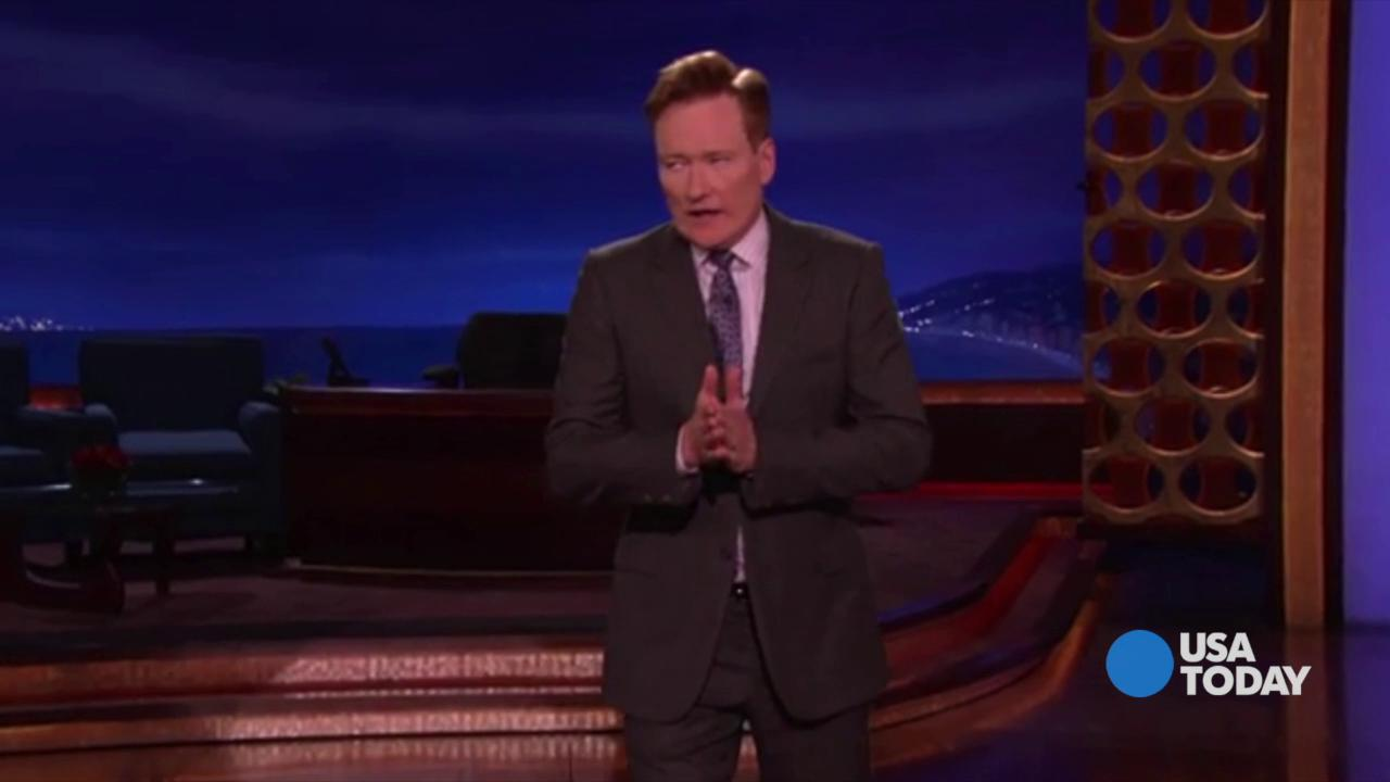 The late-night comics on Trump's recent gaffe, making fun of a journalist with a disability, and other foibles. Take a look at our favorite jokes, then vote for yours at opinion.usatoday.com.