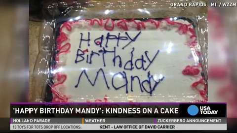 Unique birthday cake design becomes act of kindness