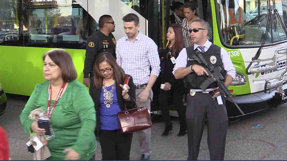 Shooting survivors reunited with family