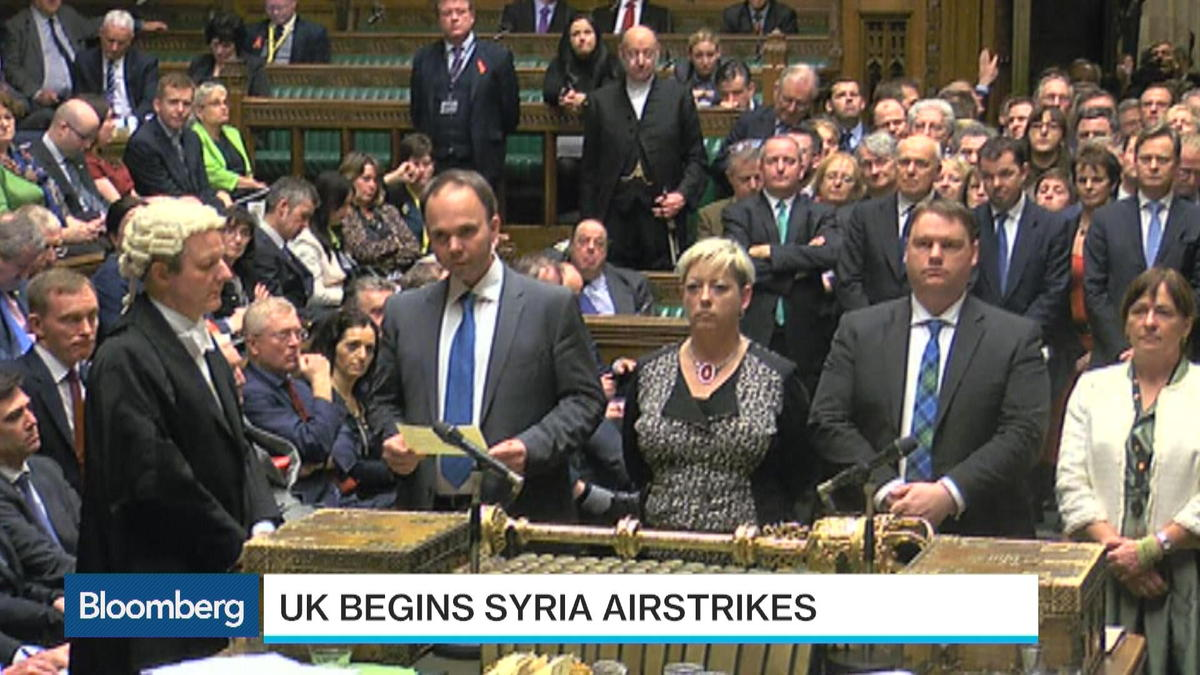 U.K. wastes no time in launching airstrikes in Syria