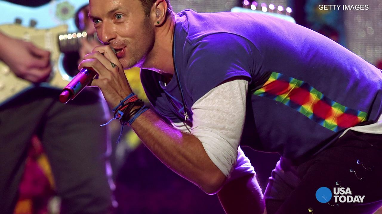 Coldplay will perform at MetLife Stadium on July 17 and 18. Here, singer Chris Martin of Coldplay performs during halftime of the NFL Super Bowl 50 football game on Feb. 7, 2016, in Santa Clara, Calif.