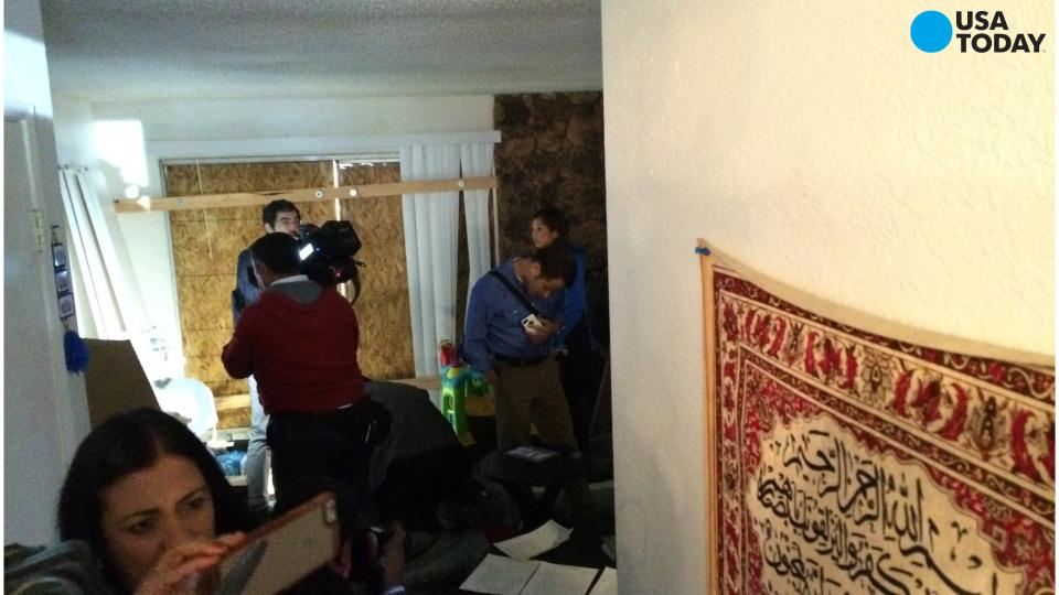 Landlord opens San Bernardino suspects' home to media