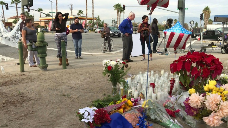 Local residents pay tribute to San Bernadino victims