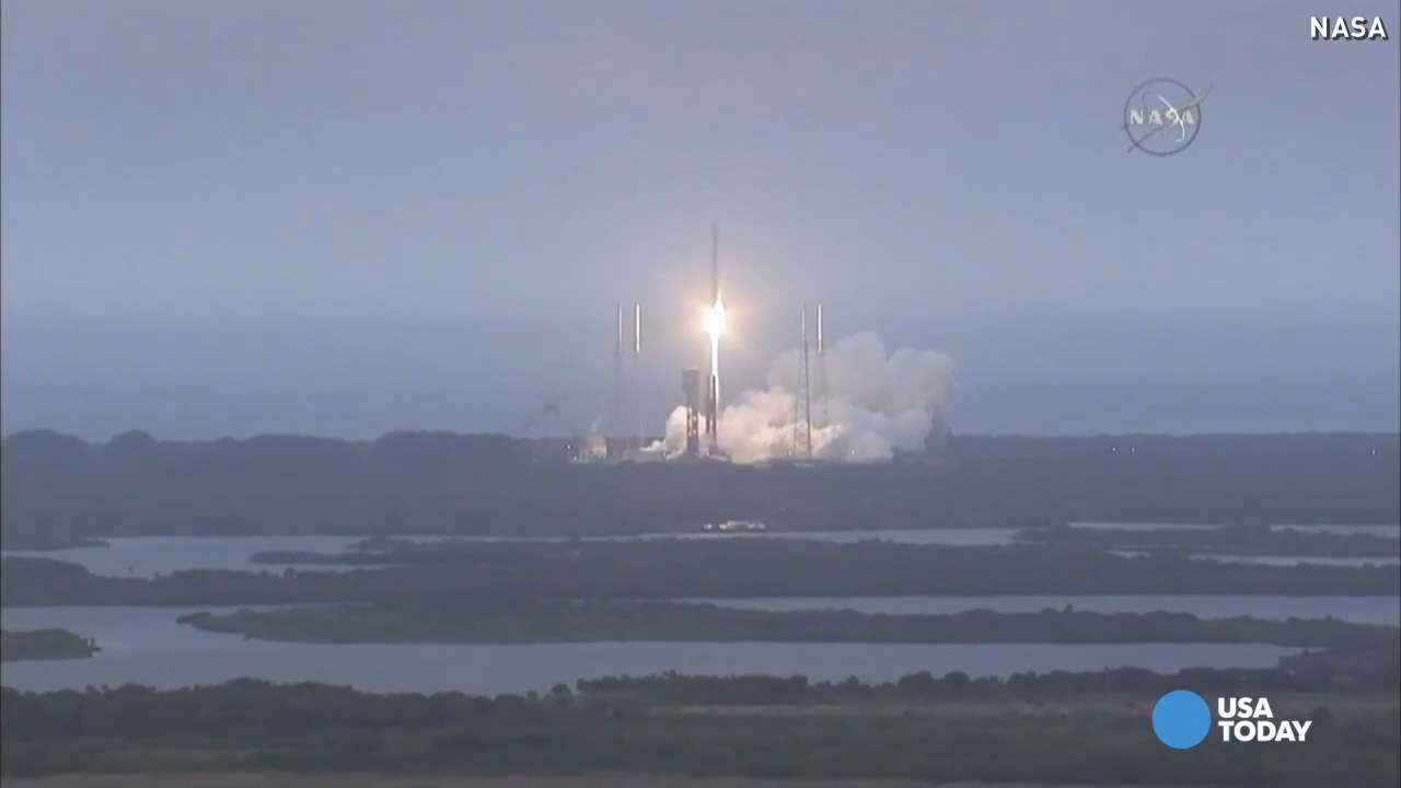 A United Launch Alliance Atlas V rocket launched after days of delays from Cape Canaveral.