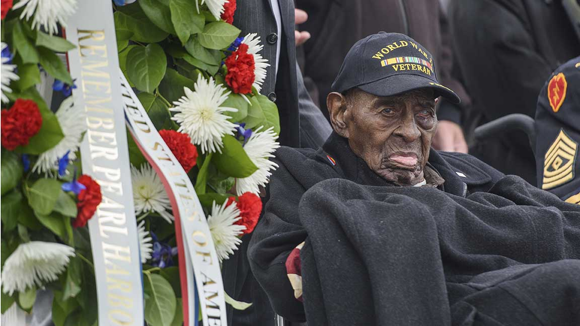 110-year-old WWII veteran observes Pearl Harbor Remembrance Day