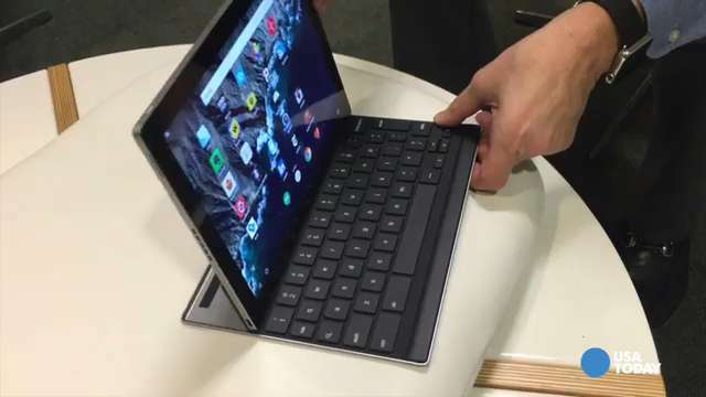 Test-driving the keyboard on Google's Pixel C tablet