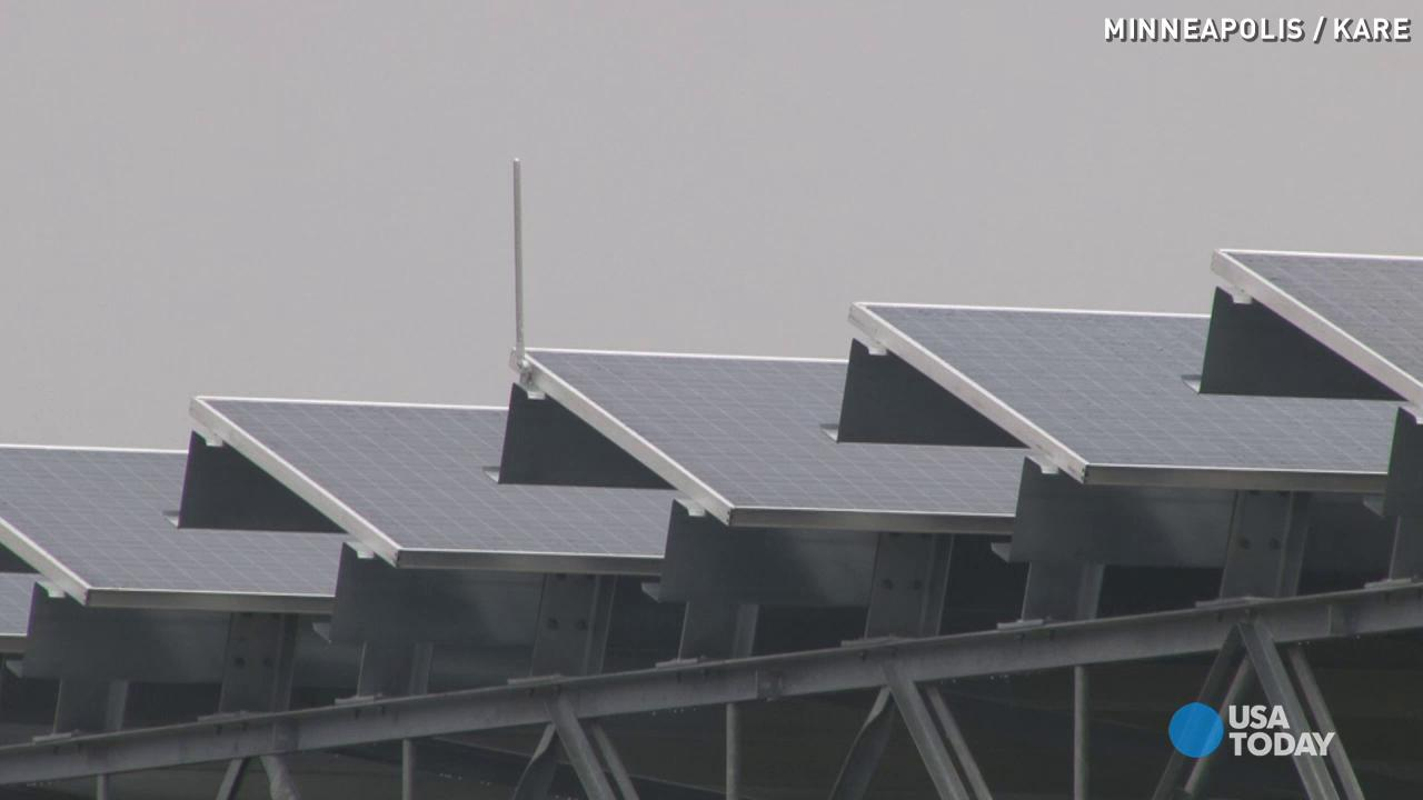 This major airport goes green with giant solar panels