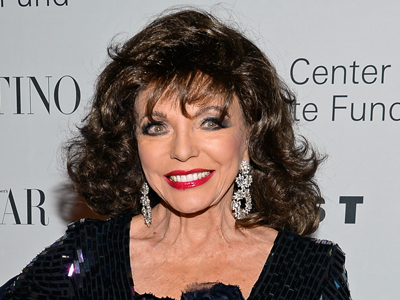 Joan Collins talks about moving forward without her sister Jackie, who passed away in September. She also opens up about her engagement long ago to actor Warren Beatty. (Dec. 9)