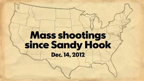 Mass shootings since Sandy Hook