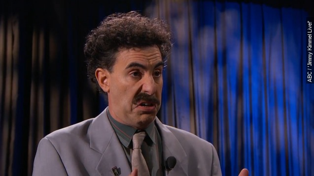 Borat blasts Trump on 'Jimmy Kimmel Live'