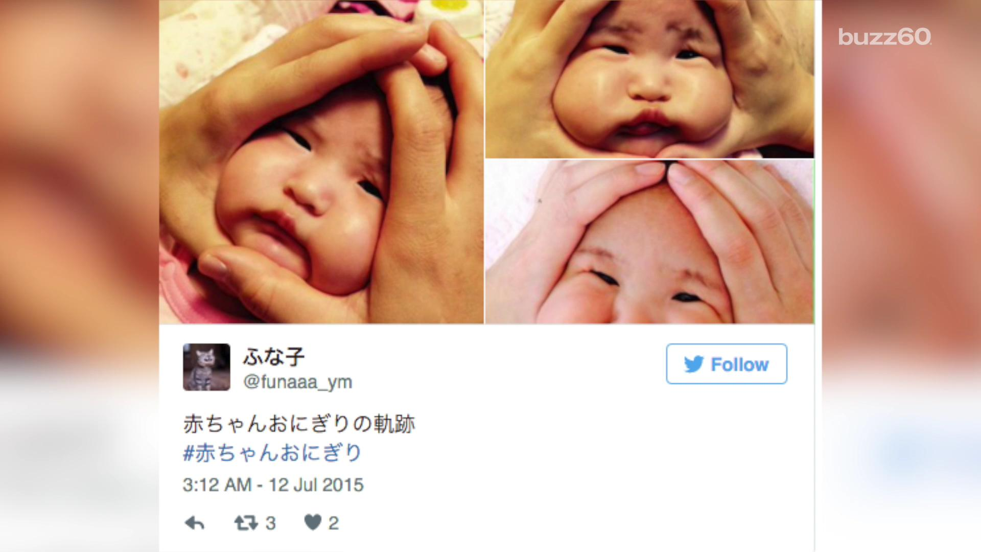 Squishing baby faces trend leads to weirdest hashtag ever