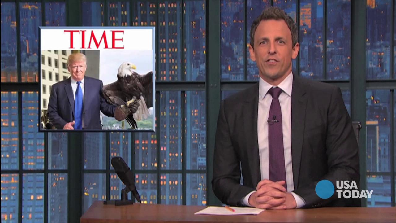 Check out our favorite late-night jokes about Time's selection for Person of the Year and Trump's run-in with a bald eagle, then vote for yours at opinion.usatoday.com.
