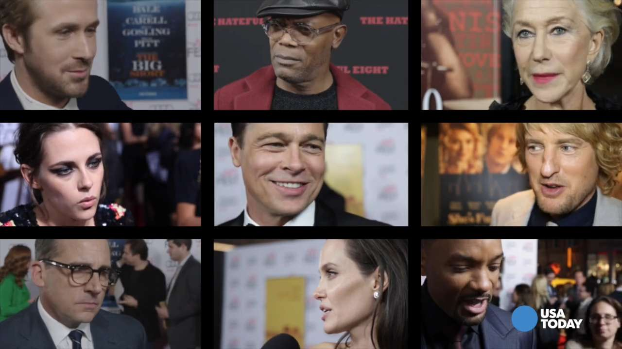 Celebs talk, mock and dance on red carpet in 2015
