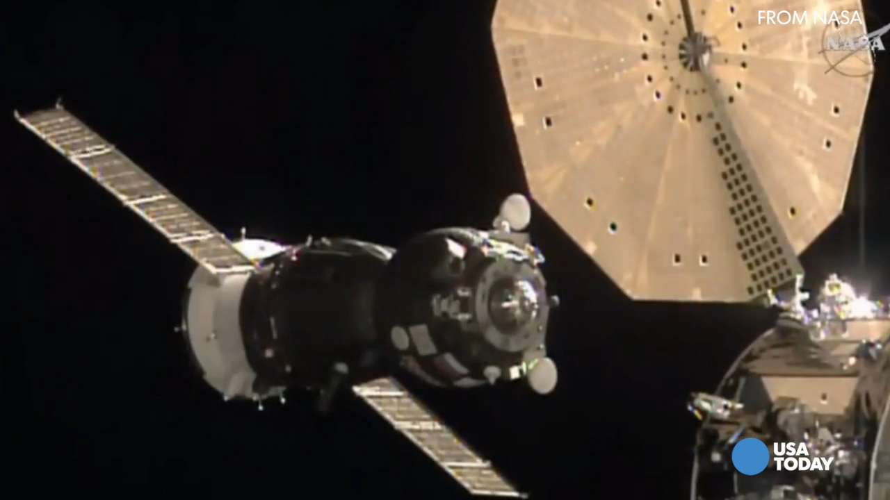 The Soyuz has docked with the ISS