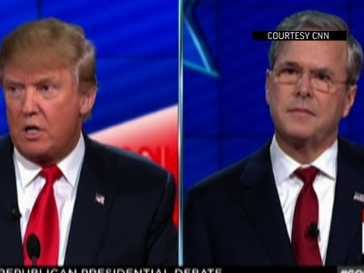 Bush and Trump in a heated debate