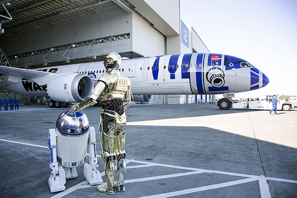 'Star Wars: The Force Awakens' cast flies in style