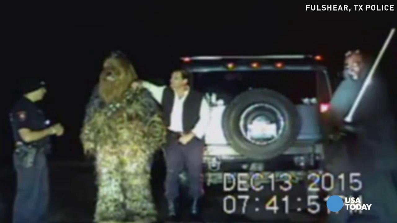 A traffic stop in Texas goes differently than planned for one officer after he pulls over a car full of Star Wars characters in this playful video posted to Facebook by the Fulshear, Texas Police Department.