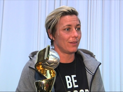 Rochester Welcomes Home Soccer Hero Abby Wambach