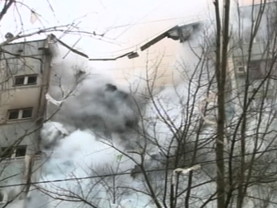 Raw: Blast Destroys Russian Apartment Building
