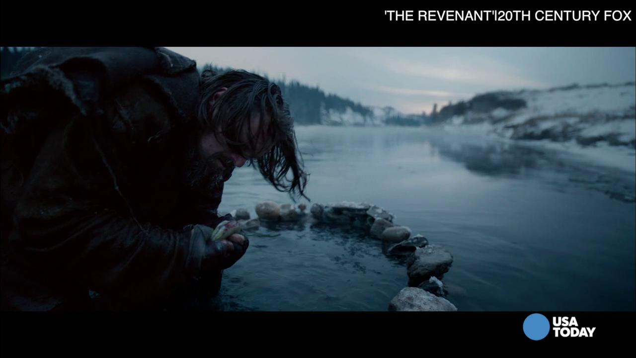 DiCaprio on eating bison liver: 'My reaction is right up on screen'