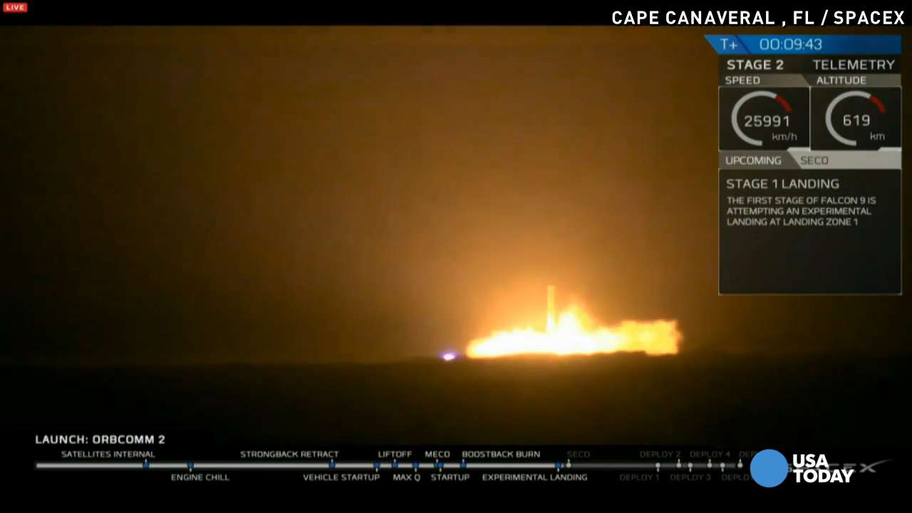 SpaceX launches Falcon 9, successfully lands booster