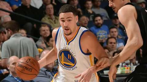Is it out of the question to think Golden State Warriors guard Klay Thompson (11) could make a run at MVP?