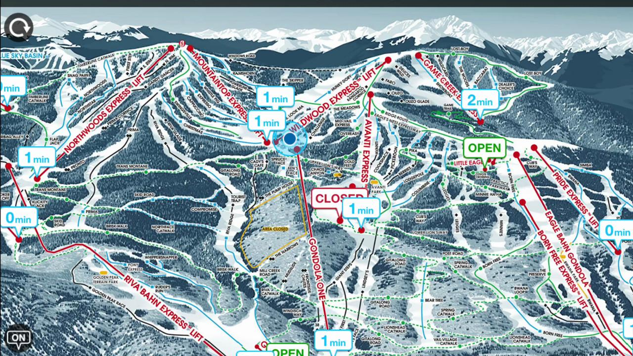 Tracking lift lines at Vail with smartphones
