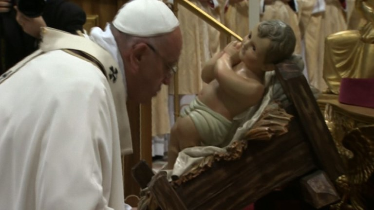 Pope Francis celebrates Christmas Eve Mass