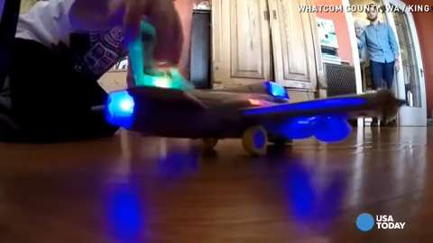 Toy jet's unusual sound causes concern