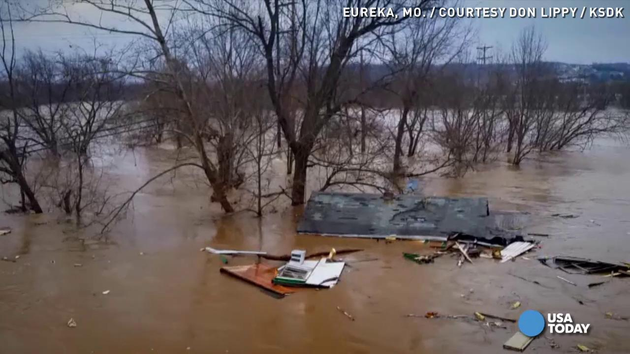 Heavy rain has turned Missouri's Meramec River into a nightmare for thousands of people outside of St. Louis.