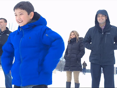 Rubio Treats His Kids to Campaign Sledding Break