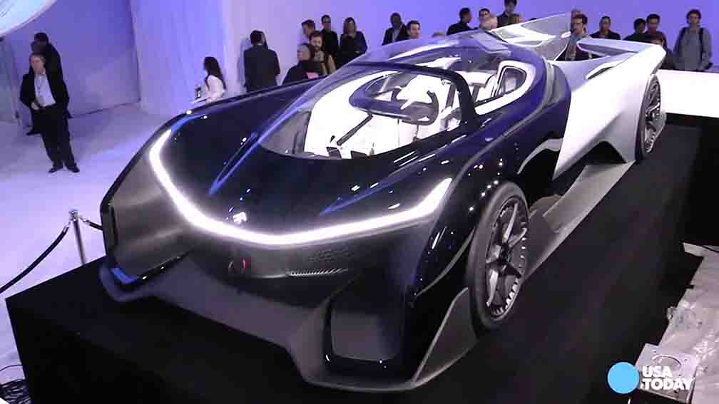 Faraday unveils sporty electric concept car