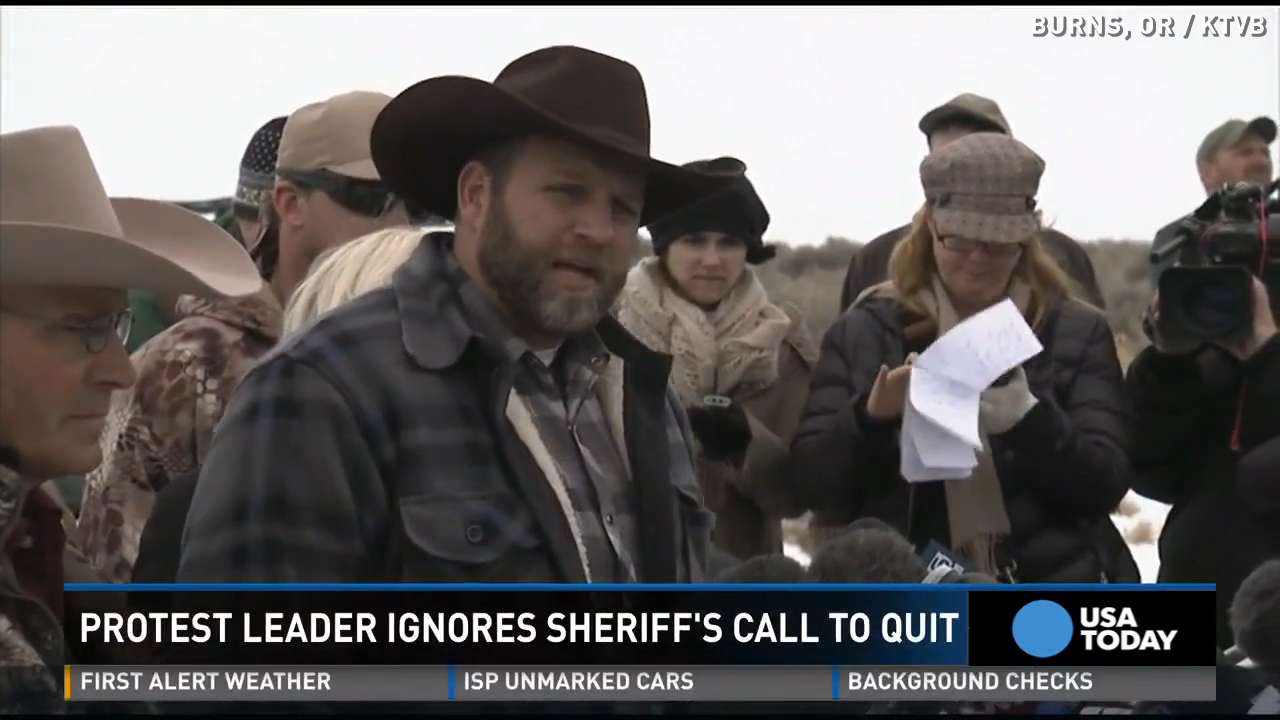 Militia 'not leaving' Oregon, ignores sheriff's request