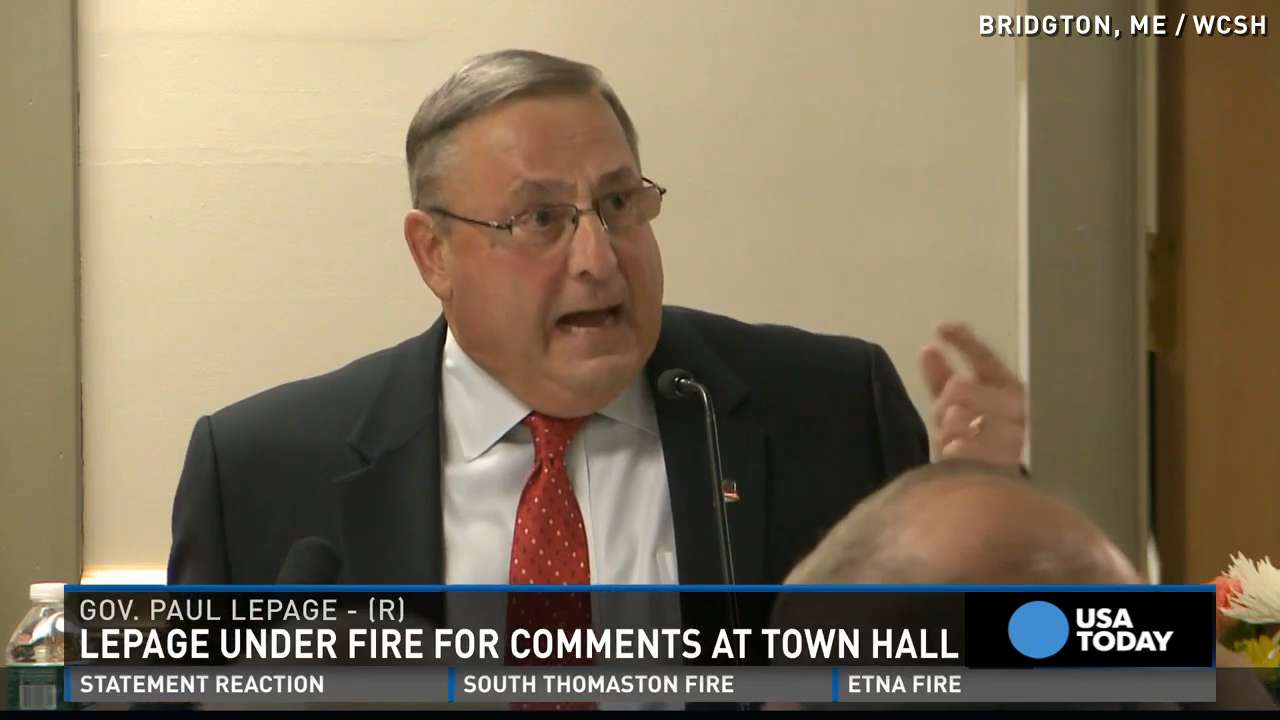 Maine Governor being called 'racist' after remarks