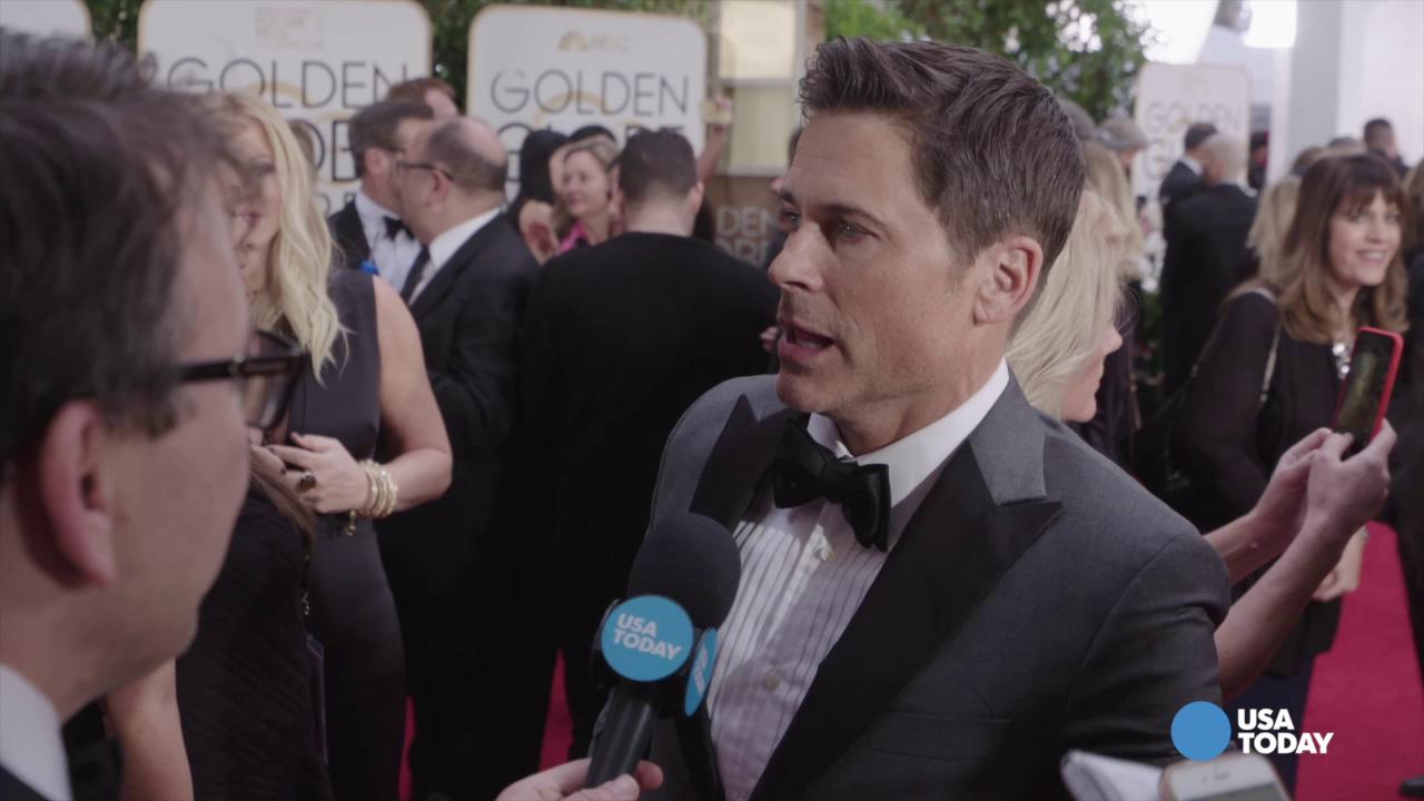 Rob Lowe geeks out over fellow Golden Globes attendees