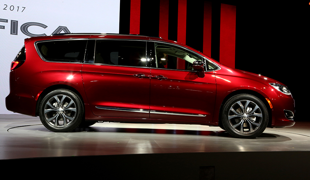 Chrysler is dropping the Town & Country has revealed its new 2017 Chrysler Pacifica at the North American International Auto Show in Detroit.